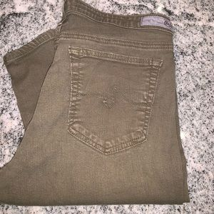 AG jeans in olive green